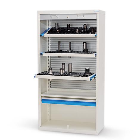 Hochschrank mit Aluminiumrollladen für CNC-Werkzeuge