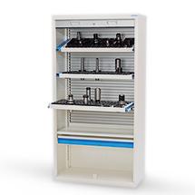 Hochschrank mit Kunststoffrollladen für CNC-Werkzeuge