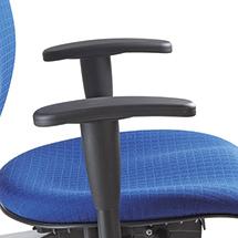 Höhenverstellbare Armlehnen für Bürodrehstuhl mit Bandscheibensitz