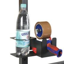 Houder voor flessen en tapeafroller, staandermontage