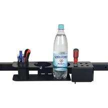 Houder voor flessen, pennen en gereedschap, voor perfoplaat of dwarsverbinder
