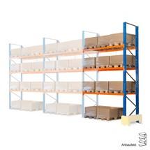 Hybridpallställ 3-i-1, lastpallställ, påbyggnadssektion