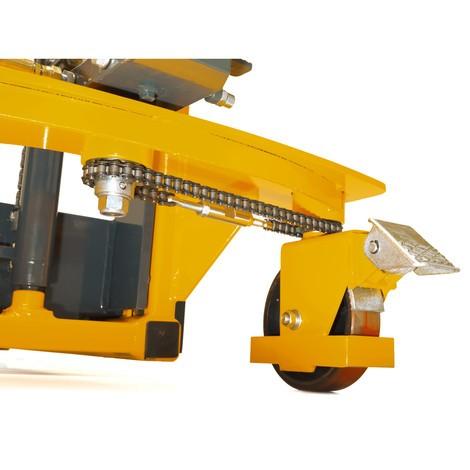 Hydrauliczny wózek podnośnikowy Ameise z funkcją szybkiego unoszenia. Wys. podn. 1600 mm. Udźwig 1000 kg.