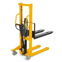 Hydraulik-Stapler Ameise® Einfach-Mast, Hub 1.600 mm, Tragkraft 1.500 kg, RAL 1028 melonengelb, B-Ware