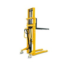 Hydraulik-Stapler Ameise® Zweifach-Teleskopmast, Hub 2.000 mm, RAL 1028 melonengelb, B-Ware