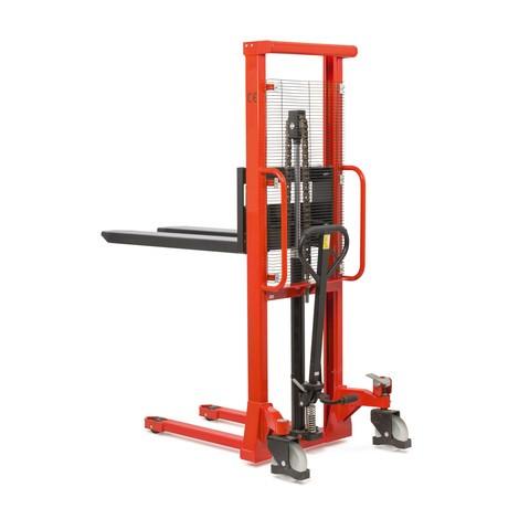 Hydraulik-Stapler BASIC mit Einfach-Mast - Tragkraft 1.000 kg, Hubhöhe 1.600 mm, B-Ware