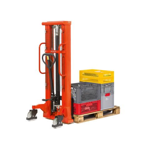 Hydraulik-Stapler BASIC mit Teleskop-Mast - Tragkraft 1.000 kg, Hubhöhe 2.000 mm, B-Ware