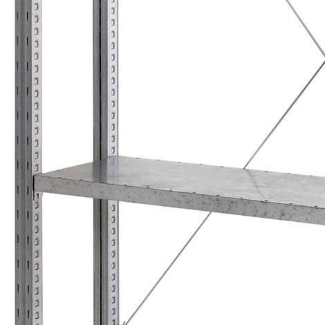 Hyllplan för hyllställ, med hyllplan av stålpaneler