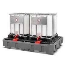 IBC-Station asecos® aus PE, Auffangvolumen 1.000 Liter