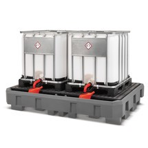 IBC-Station asecos® aus PE, Auffangvolumen 1.150 Liter