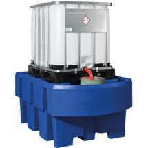 IBC station asecos® gemaakt van PE, vangvolume 1.000 liter