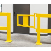 Impact protection railing door