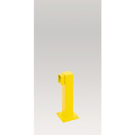 Impact protection railing post, indoor use