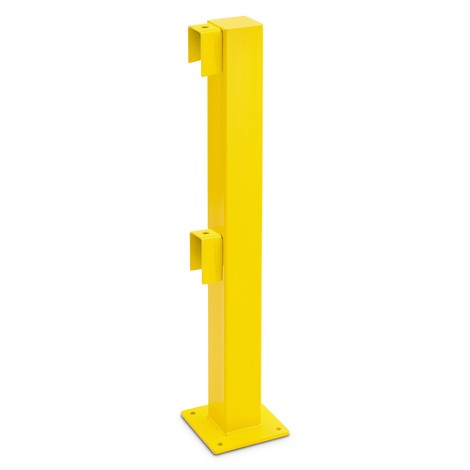 Impact protection railing post, outdoor use
