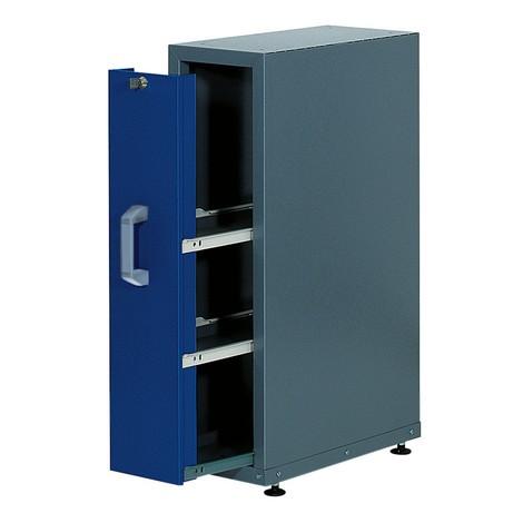 Inbouwkast met uittrekbaar deel voor werkbank, capaciteit 300 kg