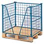 Industrie-Gitteraufsatz eins. offen, 3-fach stapelb,NutzH bis 1600mm, bis 1000kg
