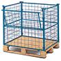 Industrie-Gitteraufsatz m. Klappe, 4-fach stapelb., NutzH bis 1600mm, bis 1000kg