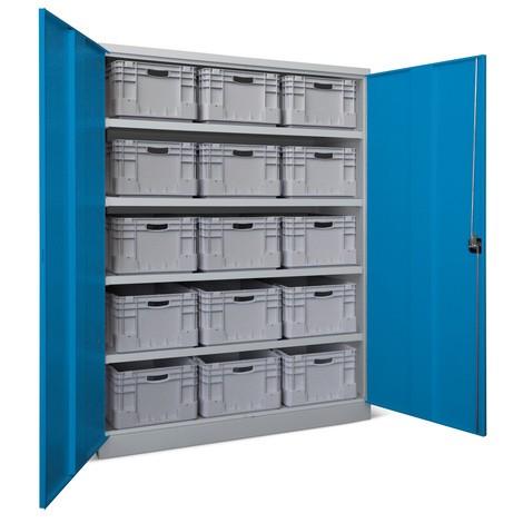 Industrie-Schwerlastschrank PAVOY Premium, 4 Fachböden, HxBxT 1.950 x 1.470 x 630 mm
