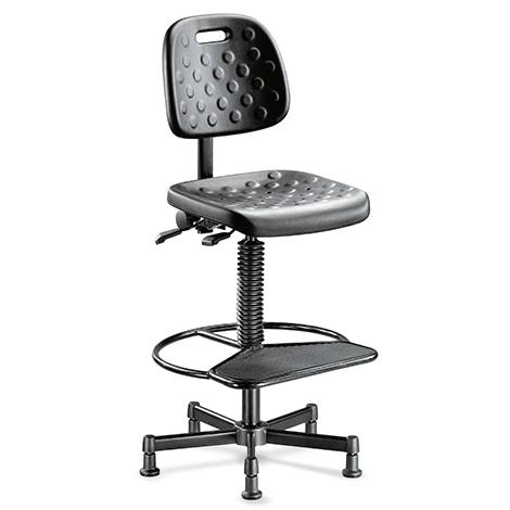 Industriedrehstuhl, atmungsaktiv, Fußring+Platte, H 600-900mm