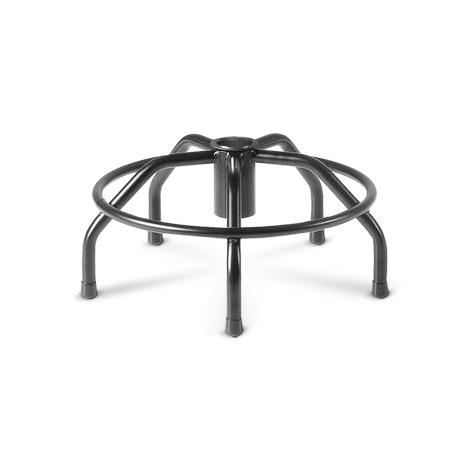 Industriehocker, Gasfeder, Kunststoff-Formsitz, Stahlgestell in Spiderform