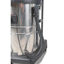 Industriële stofzuiger - Nat + droog. Tot 3000 Watt. RVS-reservoir