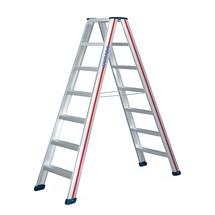 Industriële trap Premium HYMER ®. Aan twee zijden oploopbaar