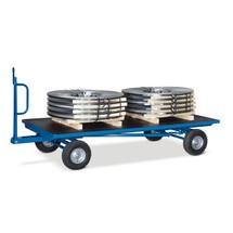 Industriële aanhangwagen fetra® met dubbele asbesturing. Capaciteit tot 3000 kg