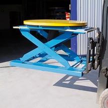 Infällbara fickor för gaffeltruckar för tryckluftpall positionerare