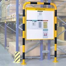 Infoboard für Gefahrenorte in Signalfarbe