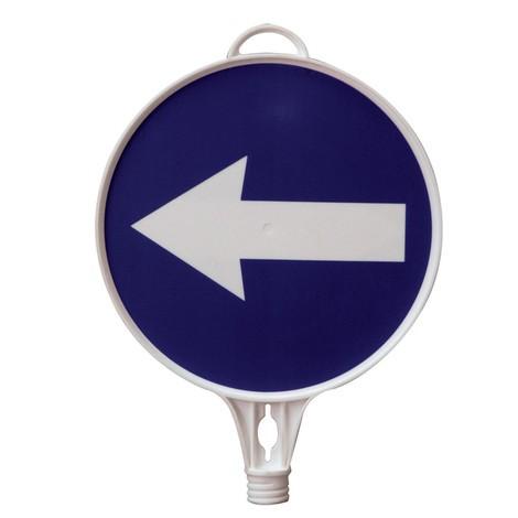informačný znak Smerová šípka, ľavý, okrúhly