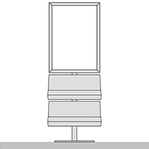 Informationscenter, DIN A1, 2 Prospektablagen