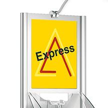 Infoschild DIN A4 Acryl selbstklebend