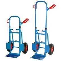 Inklapbare steekwagen BASIC van buizenstaal, verzinkbare beugel