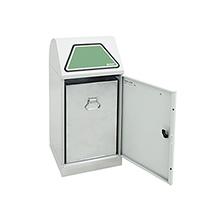 Innenbehälter für Wertstoff-Sammelbehälter, verzinktes Stahlblech, handbetätigt