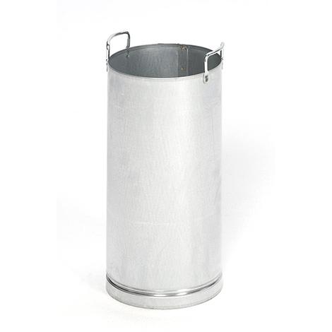 Inneneinsatz für Abfallsammler EDELSTAHL, 650xØ230mm