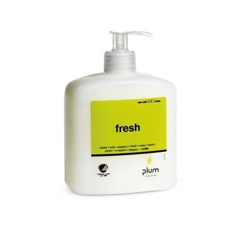 Jabón crema plum fresca, botella de bomba de 600 ml