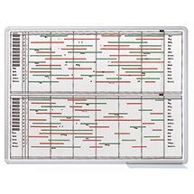 Jahreskalender, Personalplanung, 90 x 120 cm