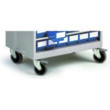 Jeu de roulettes pour systèmes de rangement à tiroirs Treston®