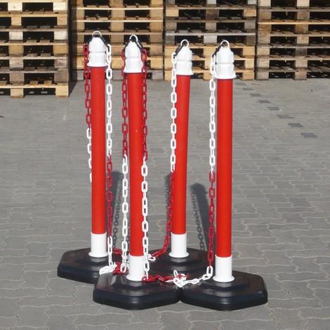 Postes pie cadenas Soporte postes de pl/ástico