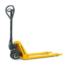 Jungheinrich AM 15l low-profile flat fork pallet truck, width across forks 680 mm, fork length 1,150 mm