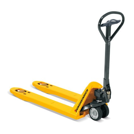 Jungheinrich AM 22 hand pallet truck with short forks, 680mm width across the forks