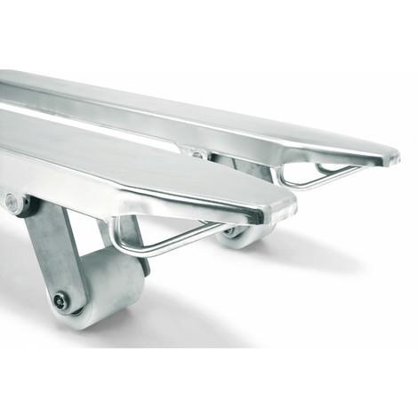 Jungheinrich AM I20 stainless steel pallet truck, special distance across forks 680 mm, fork length 1,140 mm