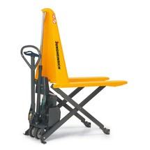 Jungheinrich AMX 10e scissor lift pallet truck – electro-hydraulic, special distance across forks 680 mm