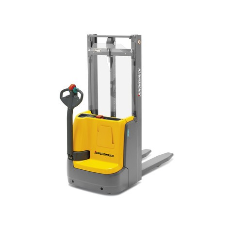 Jungheinrich EJC 110/DZ electric stacker truck – three-stage mast with free lift