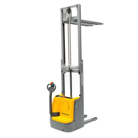 Jungheinrich EJC 110/ZZ electric stacker truck – two-stage telescopic mast with free lift