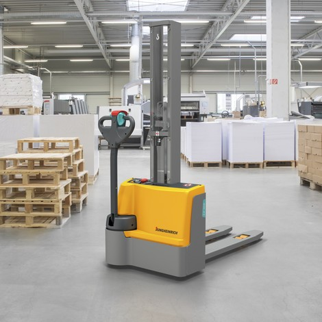 Jungheinrich EJC M10 E electric stacker truck, single stage mast, capacity 1000 kg