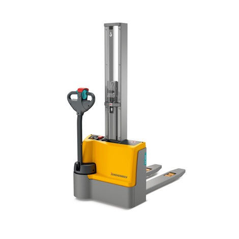 Jungheinrich EJC M10 E electric stacker truck, single stage mast, capacity 1000 kg, Lithium-ion