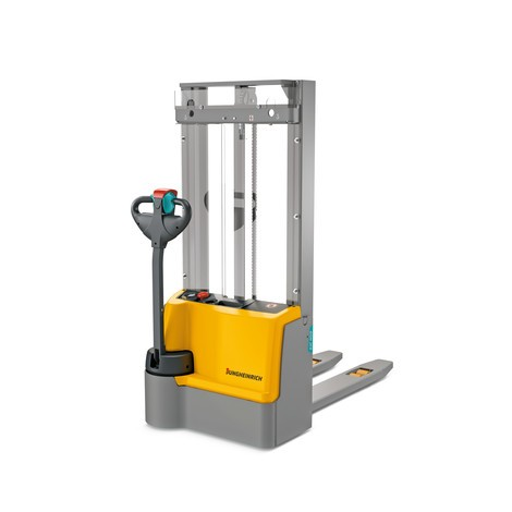 Jungheinrich EJC M10 ZT electric stacker truck, two stage telescopic mast, capacity 1000 kg, Lithium-ion