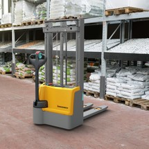 Jungheinrich EJC M10 ZT electric stacker truck with two stage telescopic mast, capacity 1000 kg