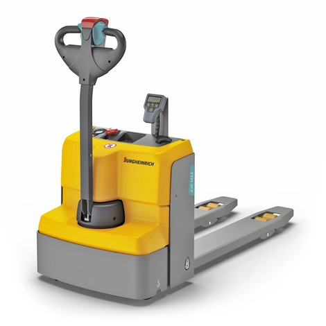 Jungheinrich EJE M13 electric low-lift pallet truck with weighing scales, lithium-ion